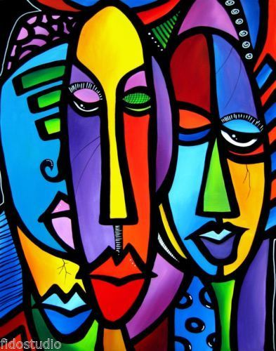 modern abstract art faces - Google Search | Thomas C. Fedro ...