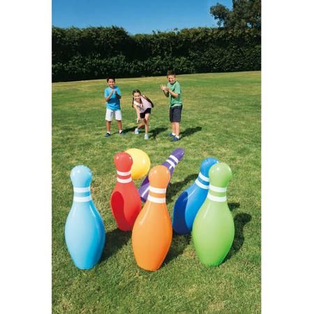Jumbo Bowling Set Walmart Com Bowling Ball Exercises Outdoor Games