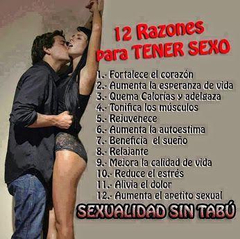 12 Razones Para Tener Sexo Sexy Pinterest Razones