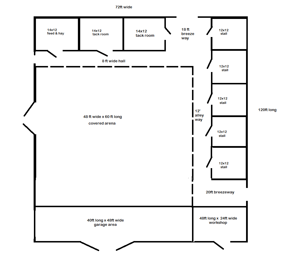 Barn With Small Indoor Arena Small Horse Barns Horse Barn Ideas Stables Horse Barn Designs