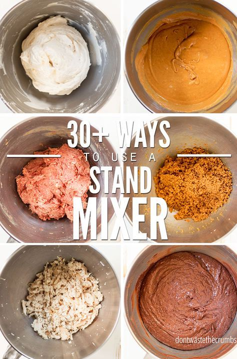 30+ Creative Ways to Use a KitchenAid Mixer  Don't Waste the Crumbs is part of Kitchen aid recipes - Over 30 creative ways to use a KitchenAid mixer for those who don't want cake, but don't know how else to use it or what else they can make that's healthy!