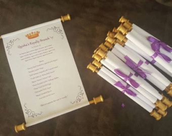 24 DIY Scroll Invitation Rods Scroll invitation Sweet 16 and Baby