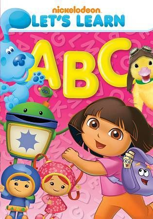 Nickelodeon Let's Learn ABC's DVD New/Sealed Dora, Wonder ...