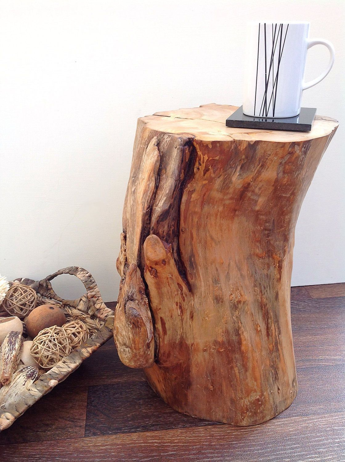 Driftwood Side Table Drift Wood Coffee End Table Driftwood Stump Bedside Table Decorative Round Round Wood Coffee Table Natural Wood Table Wood End Tables