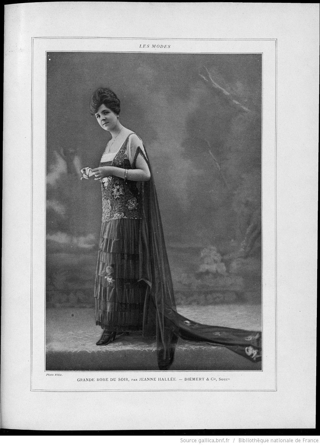 1917 - Grande robe du soir - Jeanne Hallé