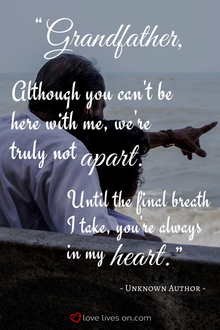 grandad in heaven quotes