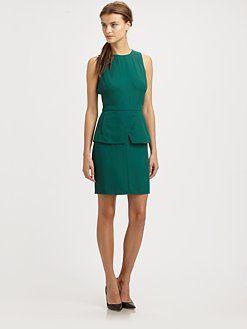 Tibi - Crepe Peplum Dress