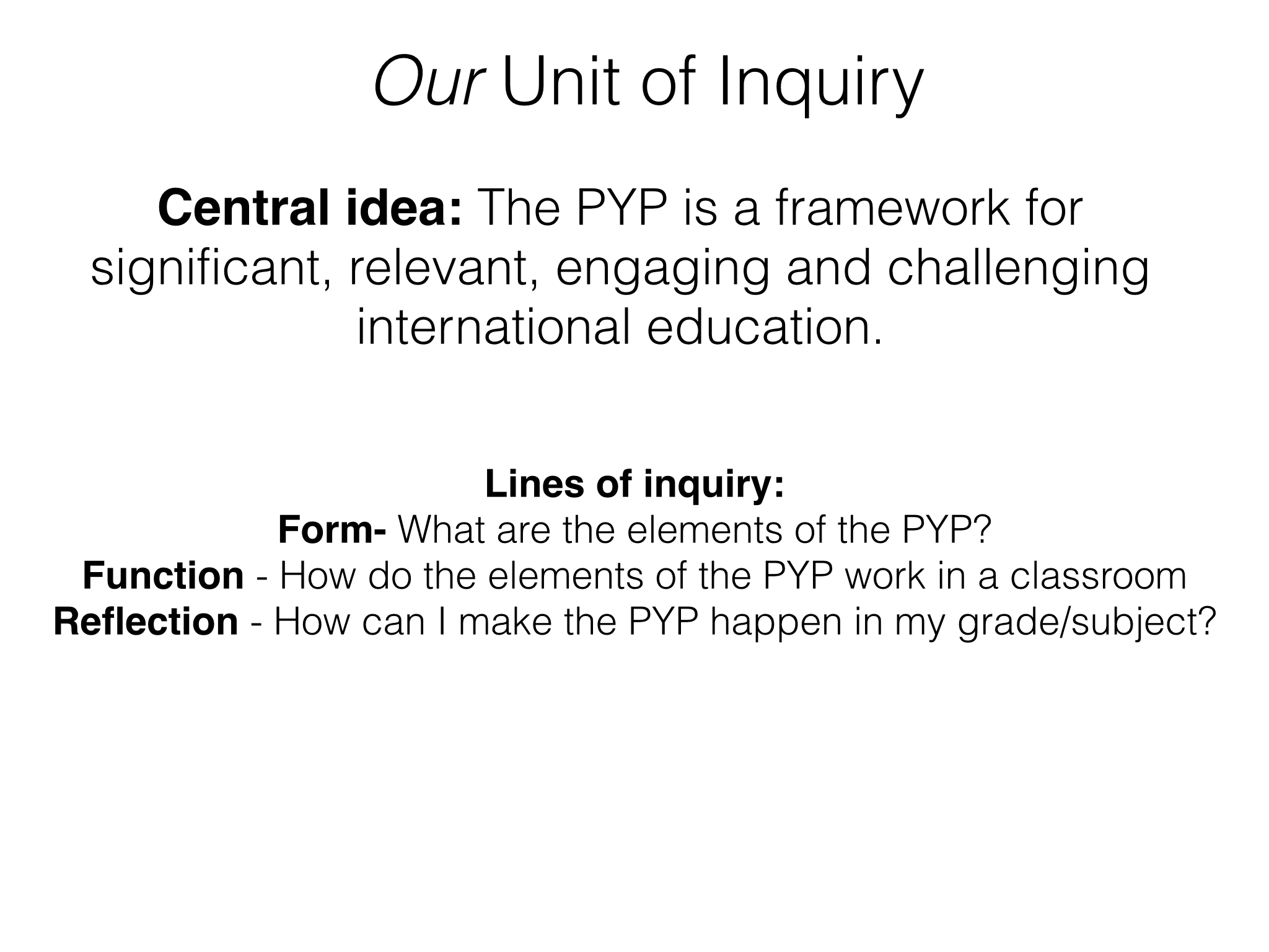 Pyp New Staff Induction As A Unit Of Inquiry Be A Nice Human Essential Elements Inquiry [ 1536 x 2048 Pixel ]