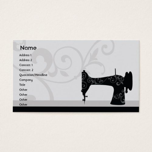 Sewing Machine Business Business Card Zazzle Com Cute Business Cards Cards Business Cards