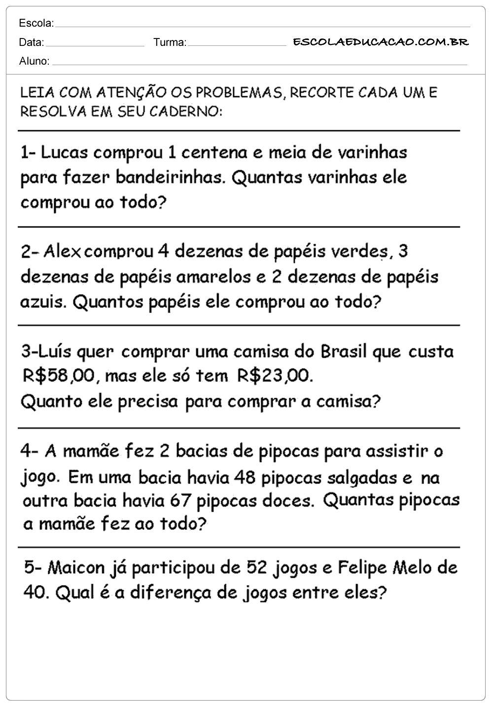 Pin Em Atividades De Matematica 7º Ano