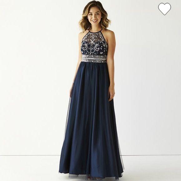 Navy blue prom dresses