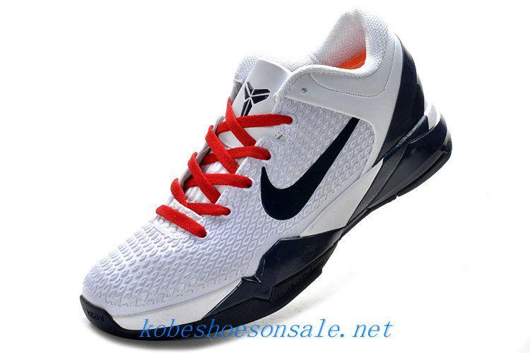 reputable site 67c18 f8473 Nike Zoom Kobe 7 Elite White Midnight Navy Red 511371 801