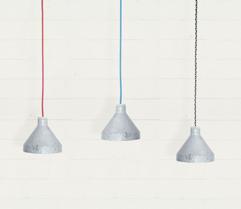 up-cycled lamps from construction sites by studio usame