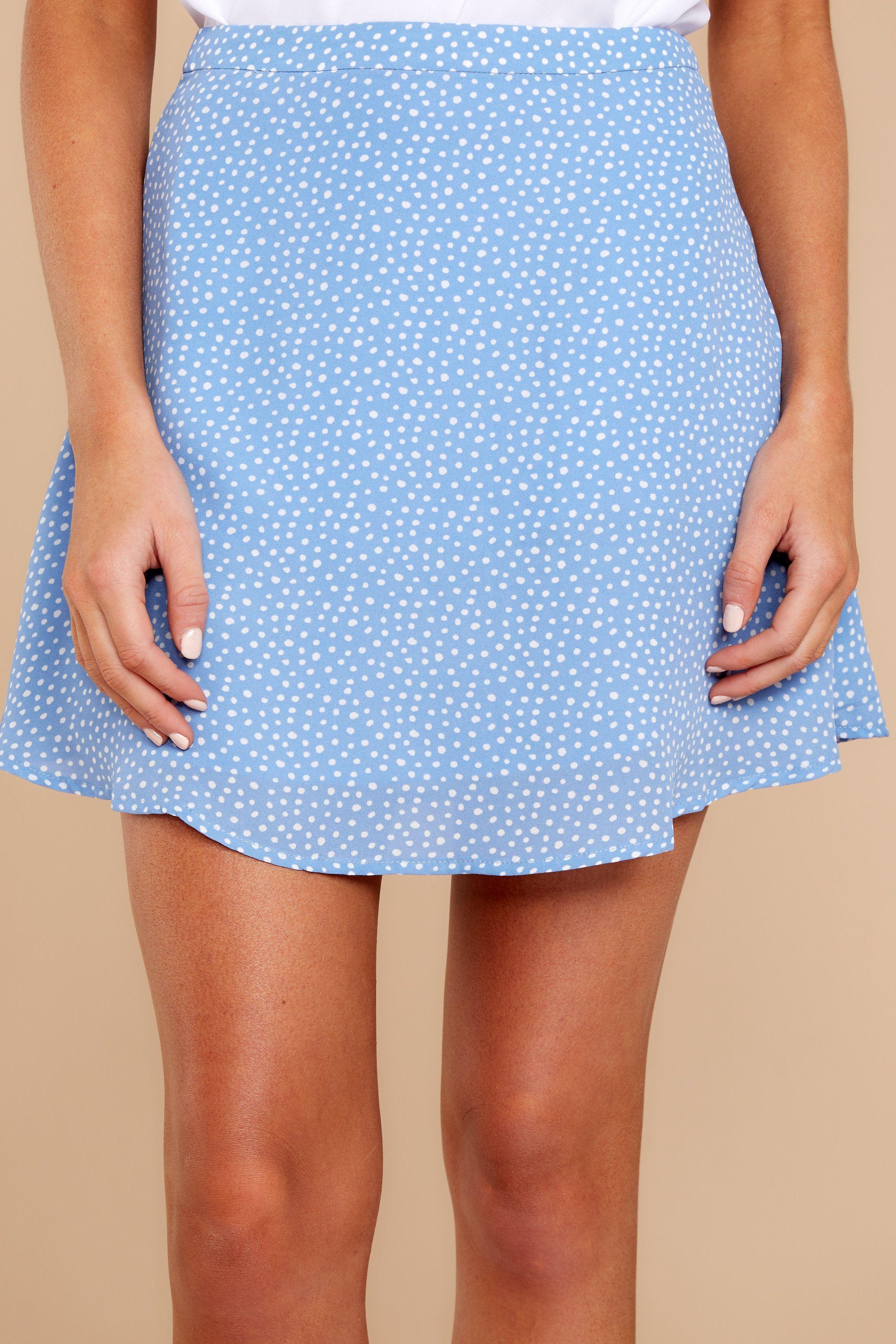 3da628a5c853 Chic Light Blue Polka Dot Skirt - Trendy Skirt - Skirt - $38.00 – Red Dress  Boutique