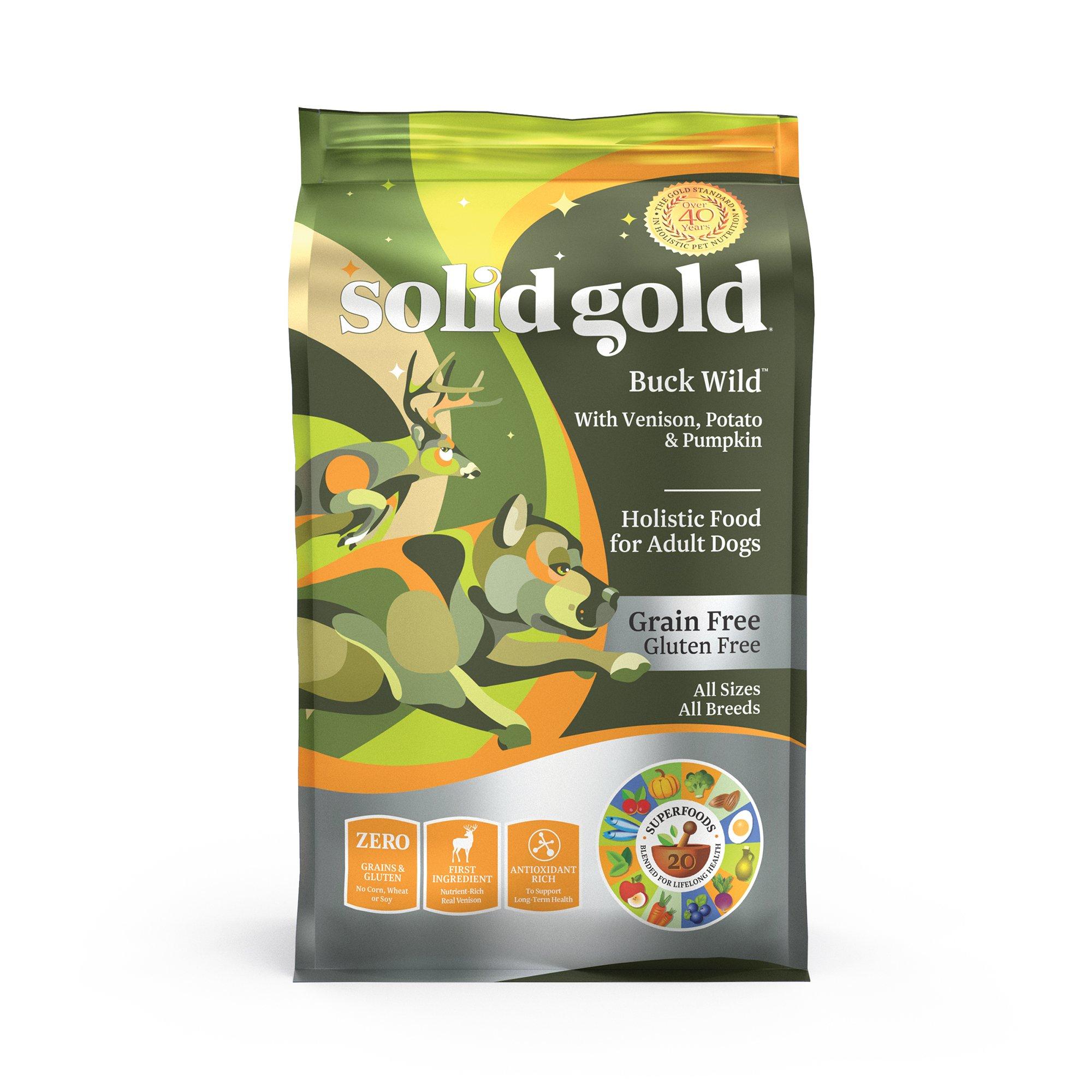 Solid Gold Buck Wild Venison Potato And Pumpkin Dry Dog Food 24