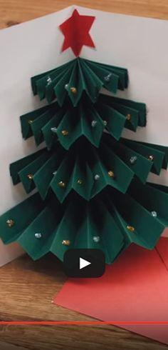 Une jolie carte de Noël simple à faire | Weihnachtsbasteln