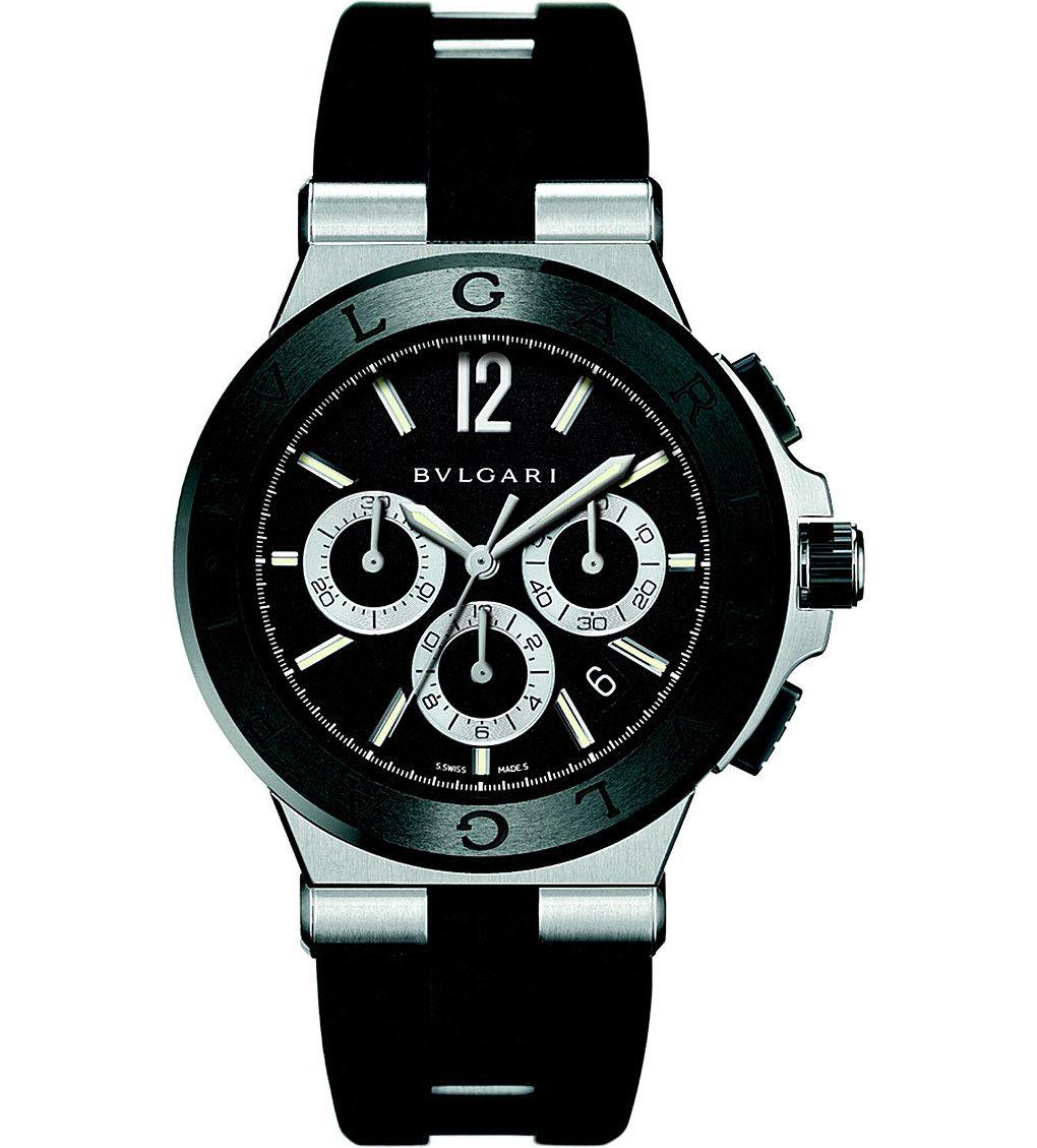 c72ba75f75c5 BVLGARI - Diagono steel watch   Selfridges.com   WATCHES   Watches ...
