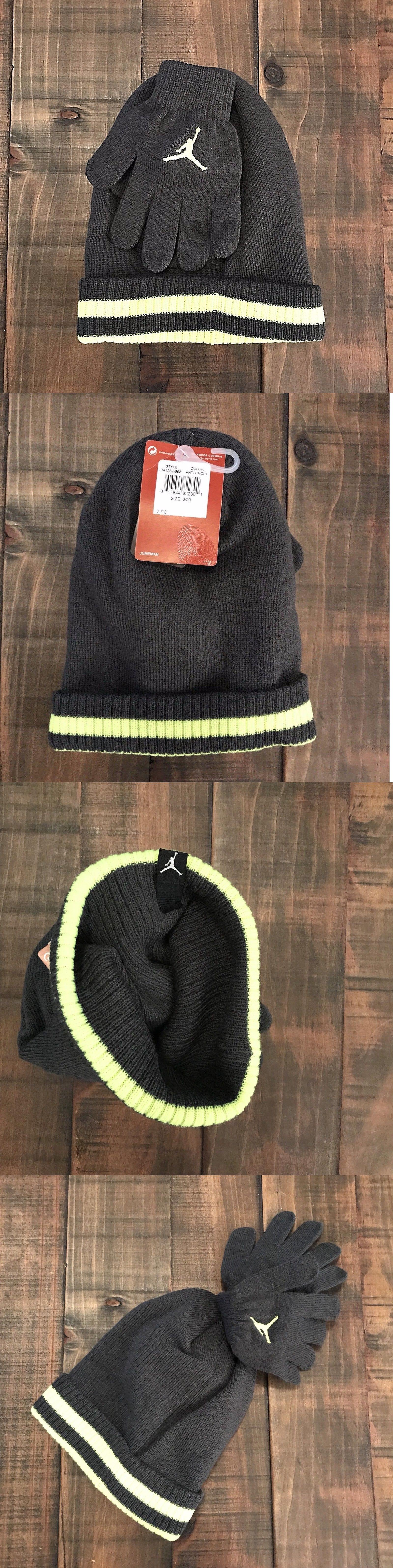 665d4fe39b8 Hats 57884  Nike Air Jordan One Size Beanie And Glove Set Boys Youth 8 20