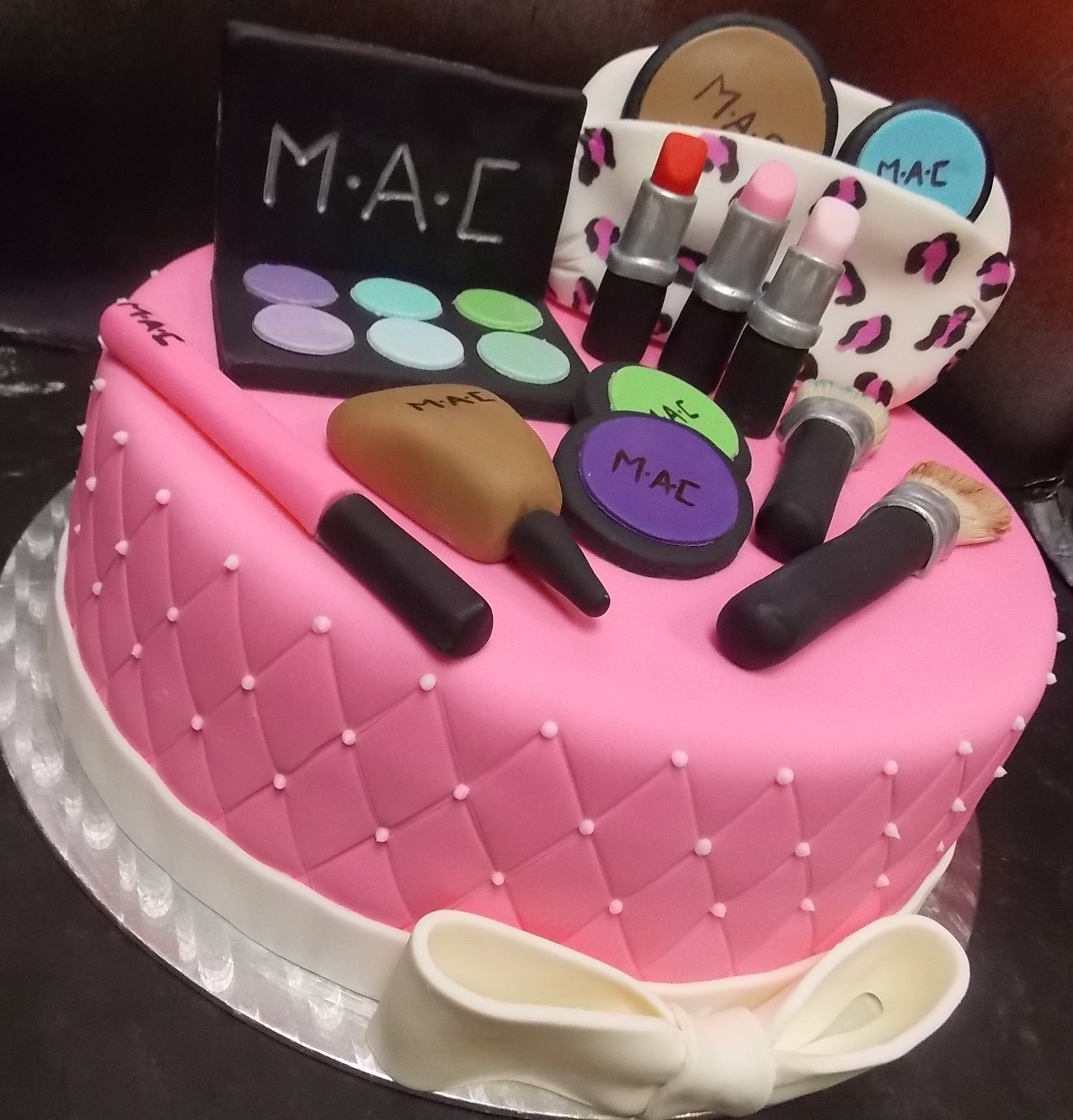 Cake Fondant Nails: MAC Makeup Themed Custom Cake