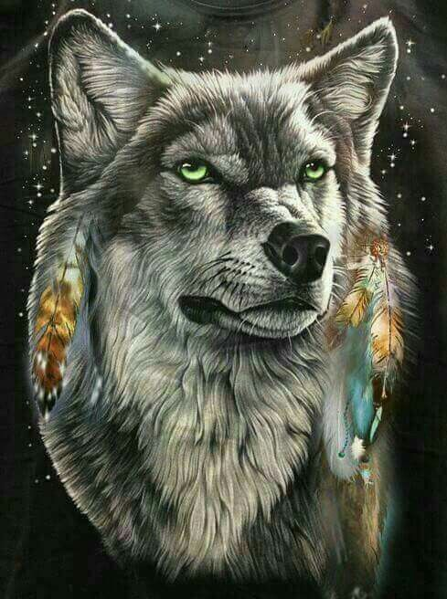 Pin by Dorothy Clayton on Indian cultures | Wolf painting ...