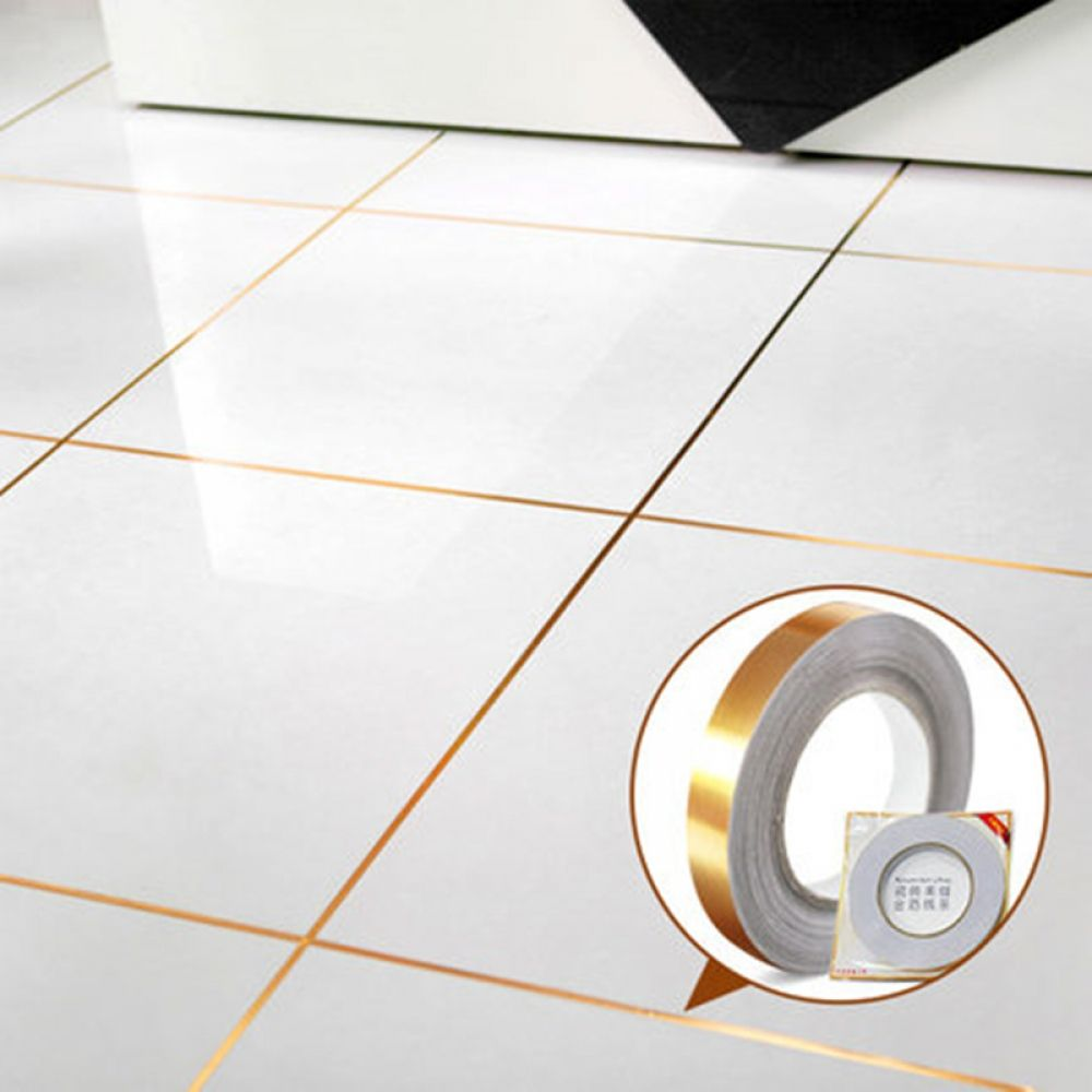 50m Self Adhesive Pvc Floor Tiles Sticker Waterproof Decorative Tape Tile Grout Tools For Wall Gap Floor Strip Home Decor Adhesive Floor Tiles Pvc Flooring Decorative Tape