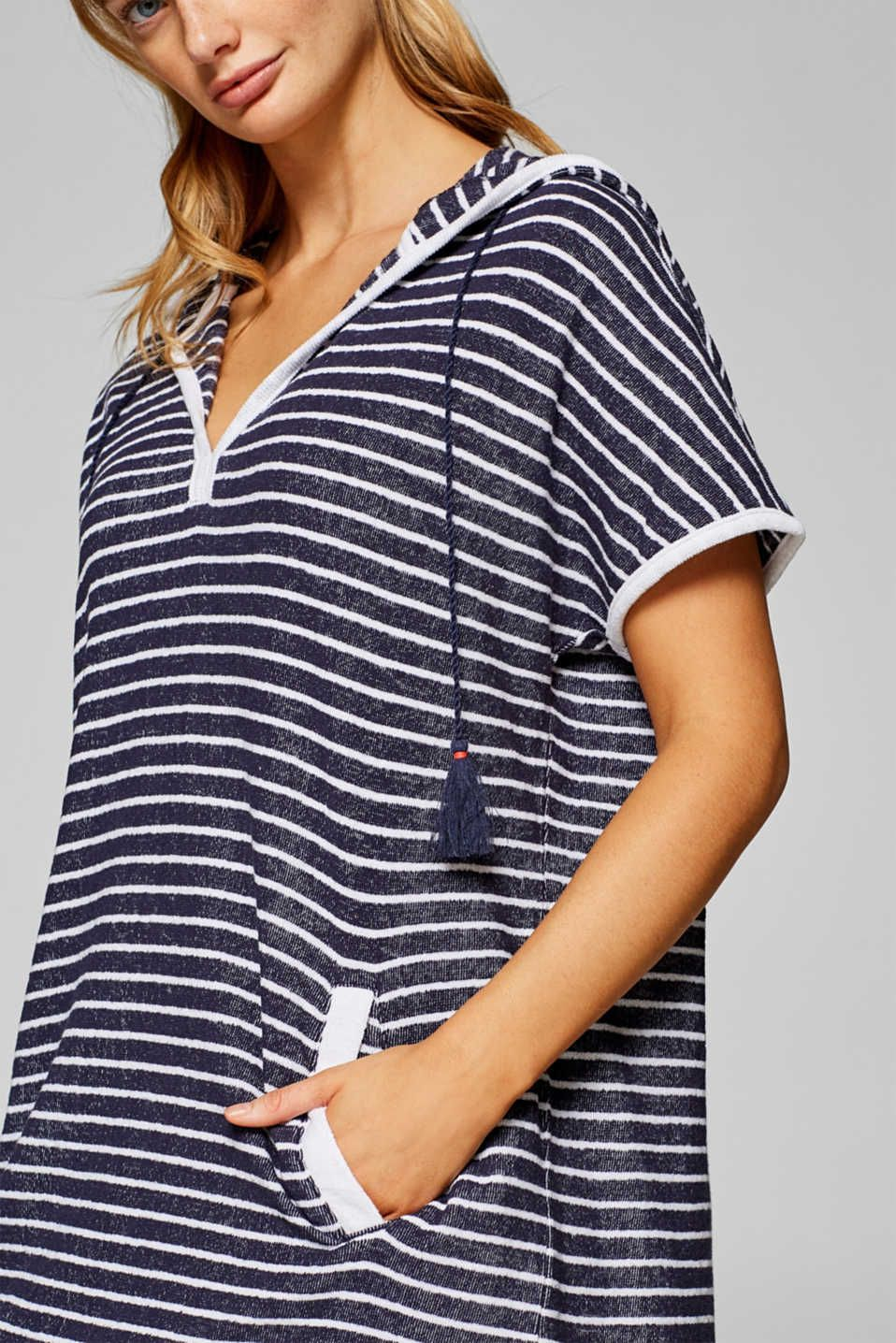 16167ce394812e Terrycloth dress with stripes