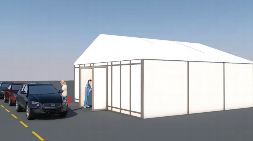 TEMPORARY MEDICAL INFRASTRUCTURE & DRIVETHRU TESTING