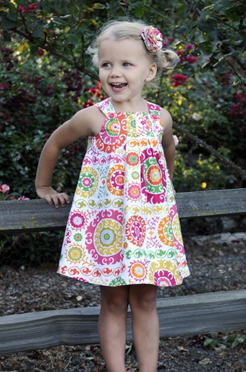 Harper Dress girl\'s PDF sewing pattern, easy pattern, child sewing ...