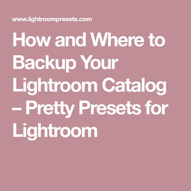 Lightroom backup catalog