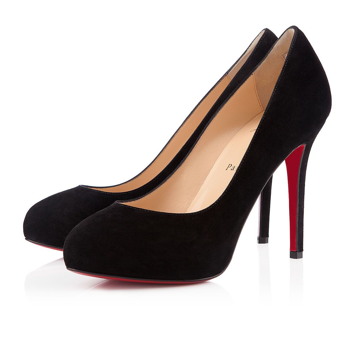 Christian Louboutin New Declic 120mm Suede Pumps Black