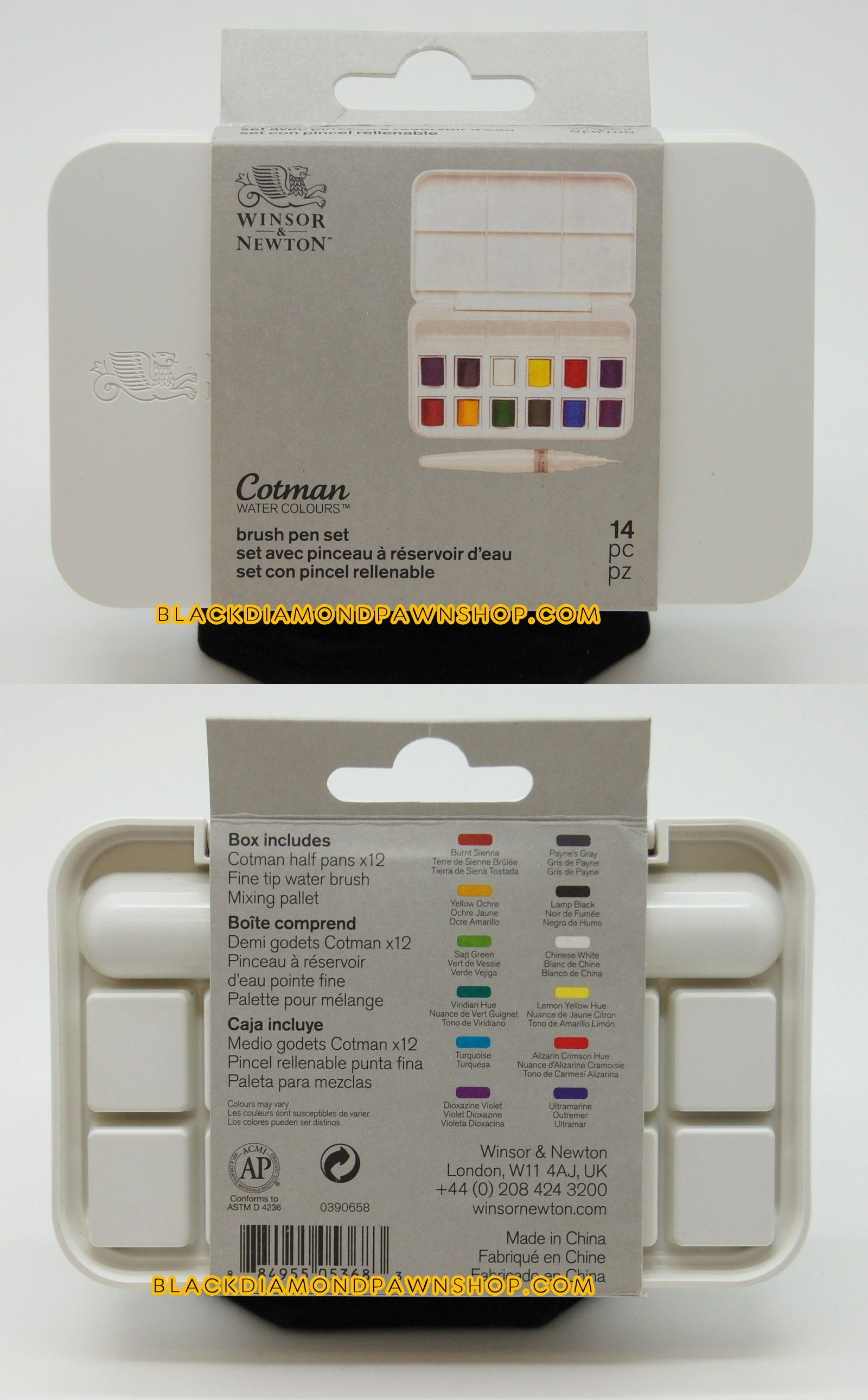 Paint 183102 Winsor And Newton Cotman Watercolours Brush Pen Set