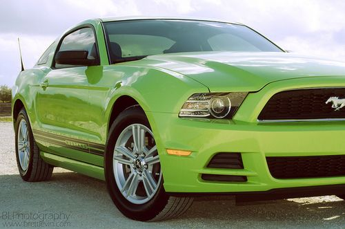 yeah-that-photo-guy:  2013 Ford Mustang on Flickr.  Via Flickr: Had a shoot on a 2013 Lime Green Ford Mustang V6. Lots of fun and I enjoy this car and the lights a lot.