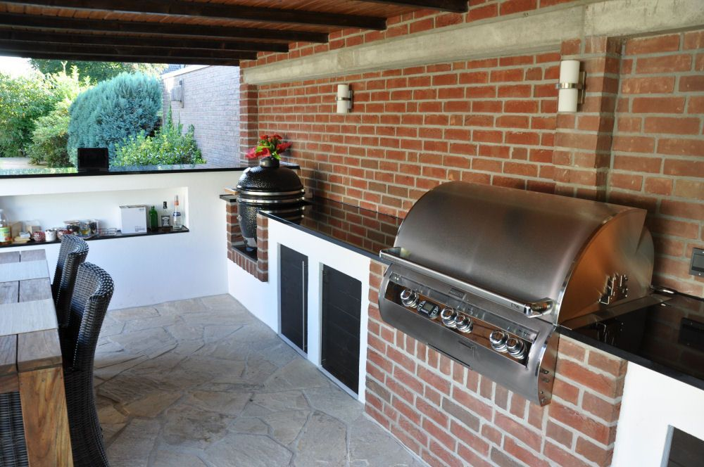 Aussenküche Mit Grill : ▷ ideen für outdoor grillküche mit modernem design