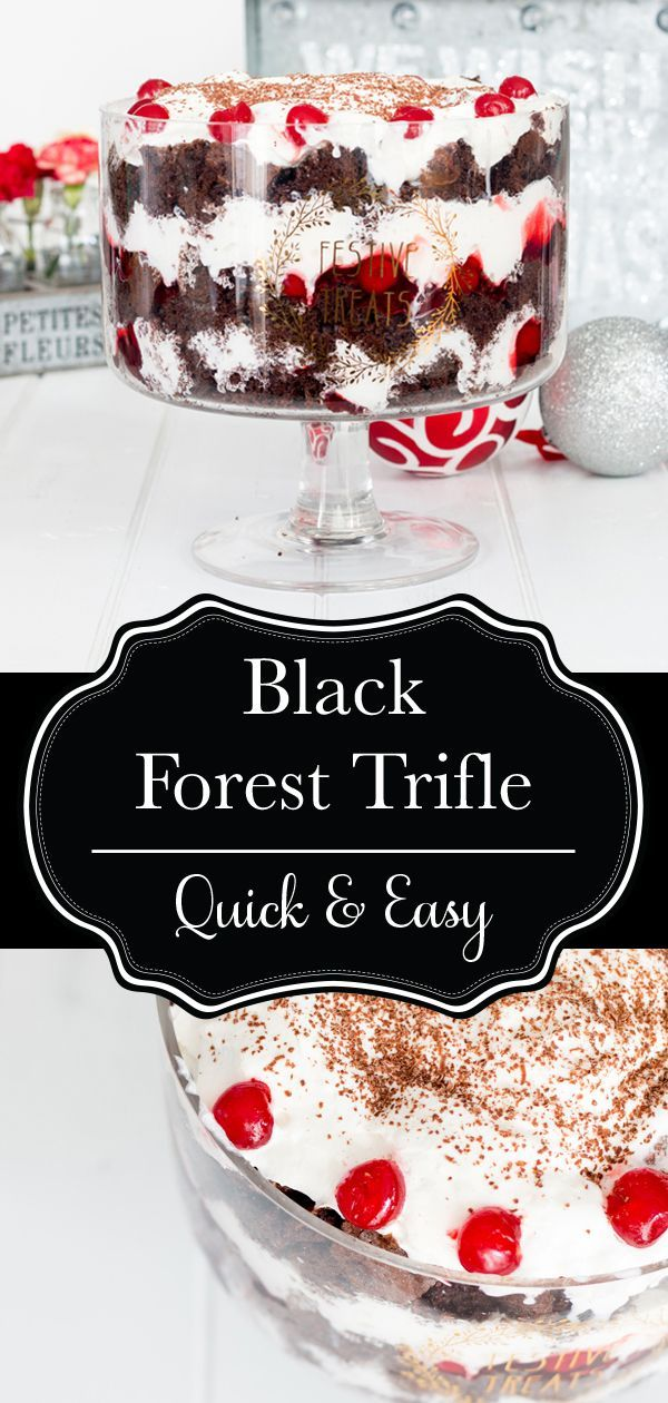 Black Forrest Cake Trifle