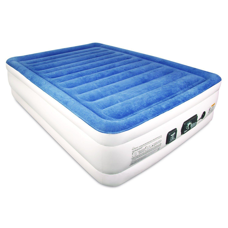 Soundasleep Cloudnine Series Air Mattress With Dual Smart Pump Technology Queen Size Mattress Air Mattress Guest Bed