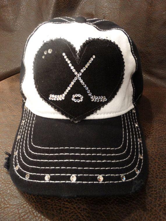 6130afc0 Love HOCKEY Mom Ball Cap | My Style | Hockey, Hockey mom, Hockey hats