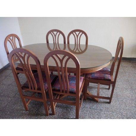 Mesa comedor y 6 sillas. #muebles #segundamano   Segunda Mano en ...