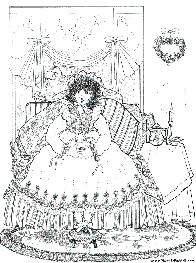 Doll Coloring Page - lots of free coloring pages at www.pheemcfaddell.com