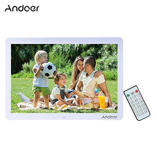 Andoer15″ Pantalla Ancha HD LED Marco Digital Álbum Digital Alta ...