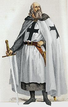 Knights Templar: Jacques de Molay (circa 1240/1250 - March 1314) was the 23rd and last Grand Master of the #Knights #Templar, leading the Order from 20 April 1292 until it was dissolved by order of Pope Clement V in 1307. Although little is known of his actual life and deeds except for his last years as Grand Master, he is the best known Templar, along with the Order's founder and first Grand Master, Hugues de Payens (1070 - 1136).