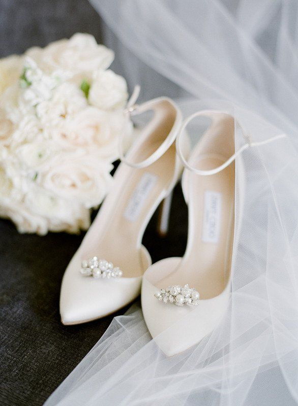 Classic wedding shoes - white heels for