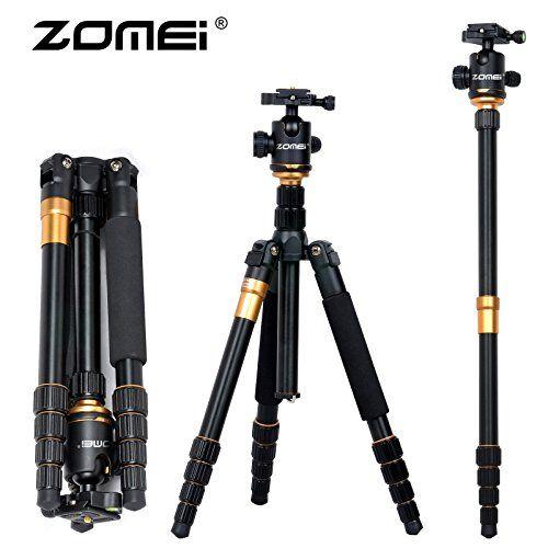 ZOMEi Lightweight Q666 Camera Tripod PTZ Portable Travel Triangle Bracket SLR Photography Monopod