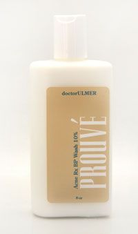 Prouv Acne Benzoyl Peroxide Wash 10 Wash contains 10 BPO and