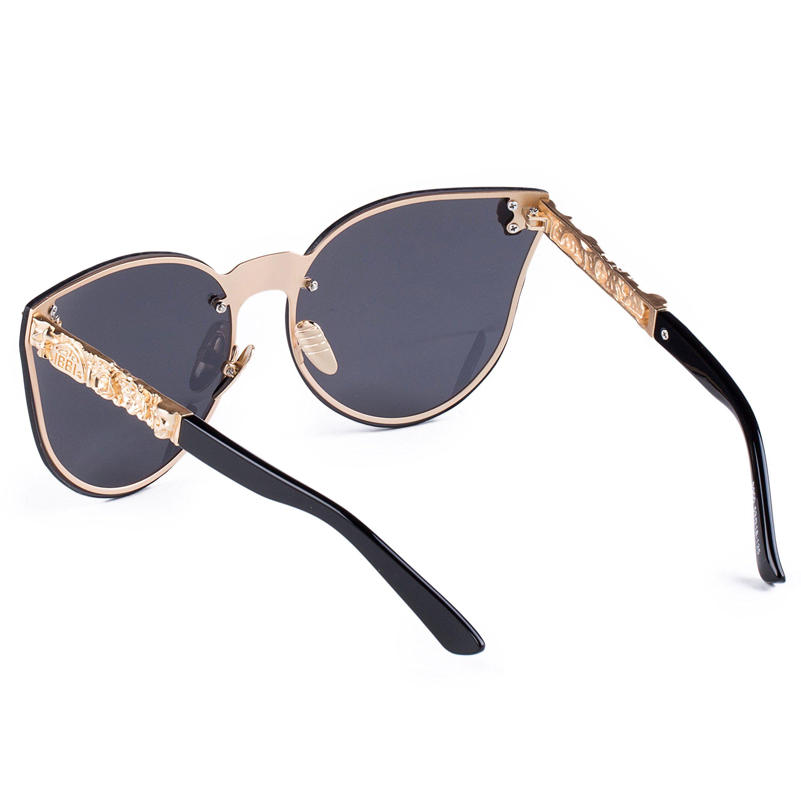 Dollger Rimless Skull Design Cat Eye Sunglasses UV400 Protection
