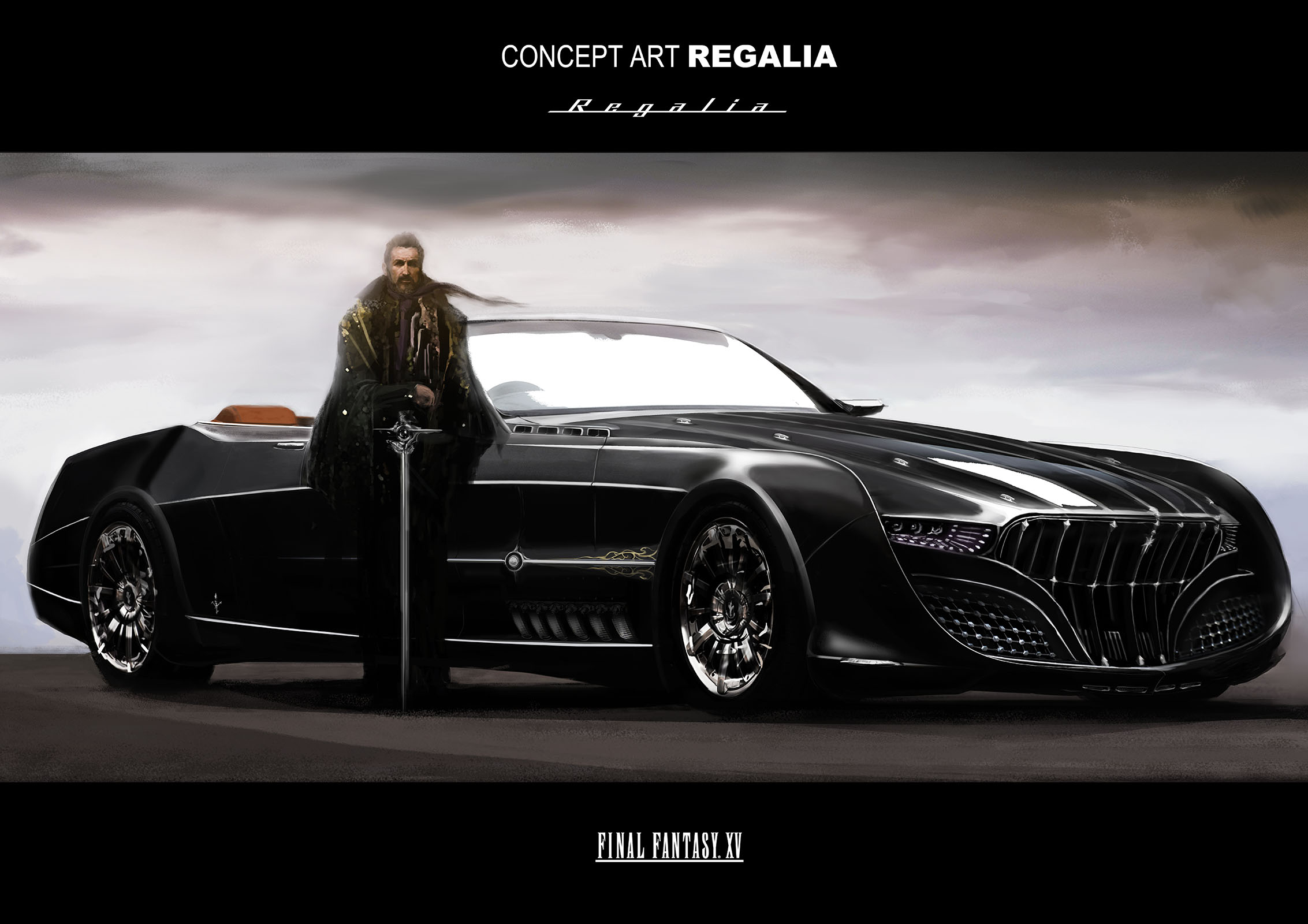 Final Fantasy 15 game concept art of the \
