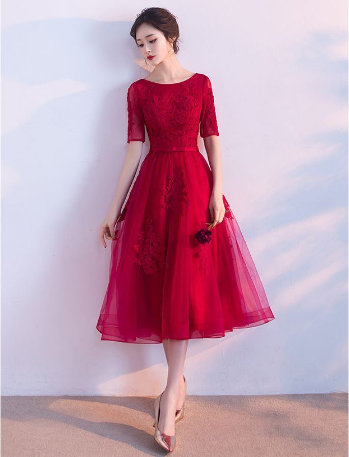 1950s Inspired Elegant Lace Evening Dress Party Dress Ideas