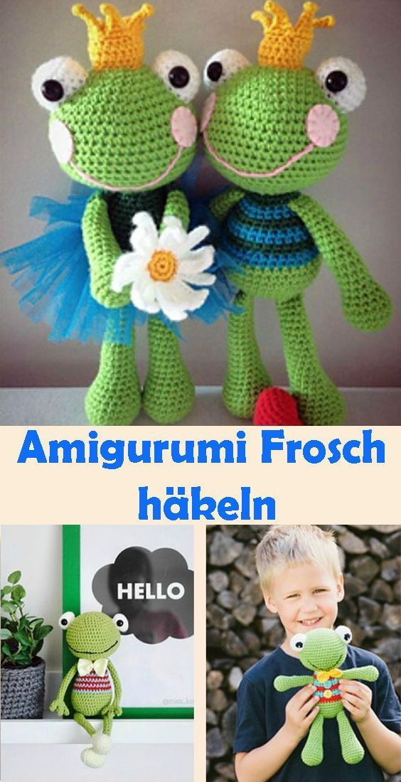 Photo of Amigurumi Frosch häkeln  kostenlose & einfache DIY Anleitung