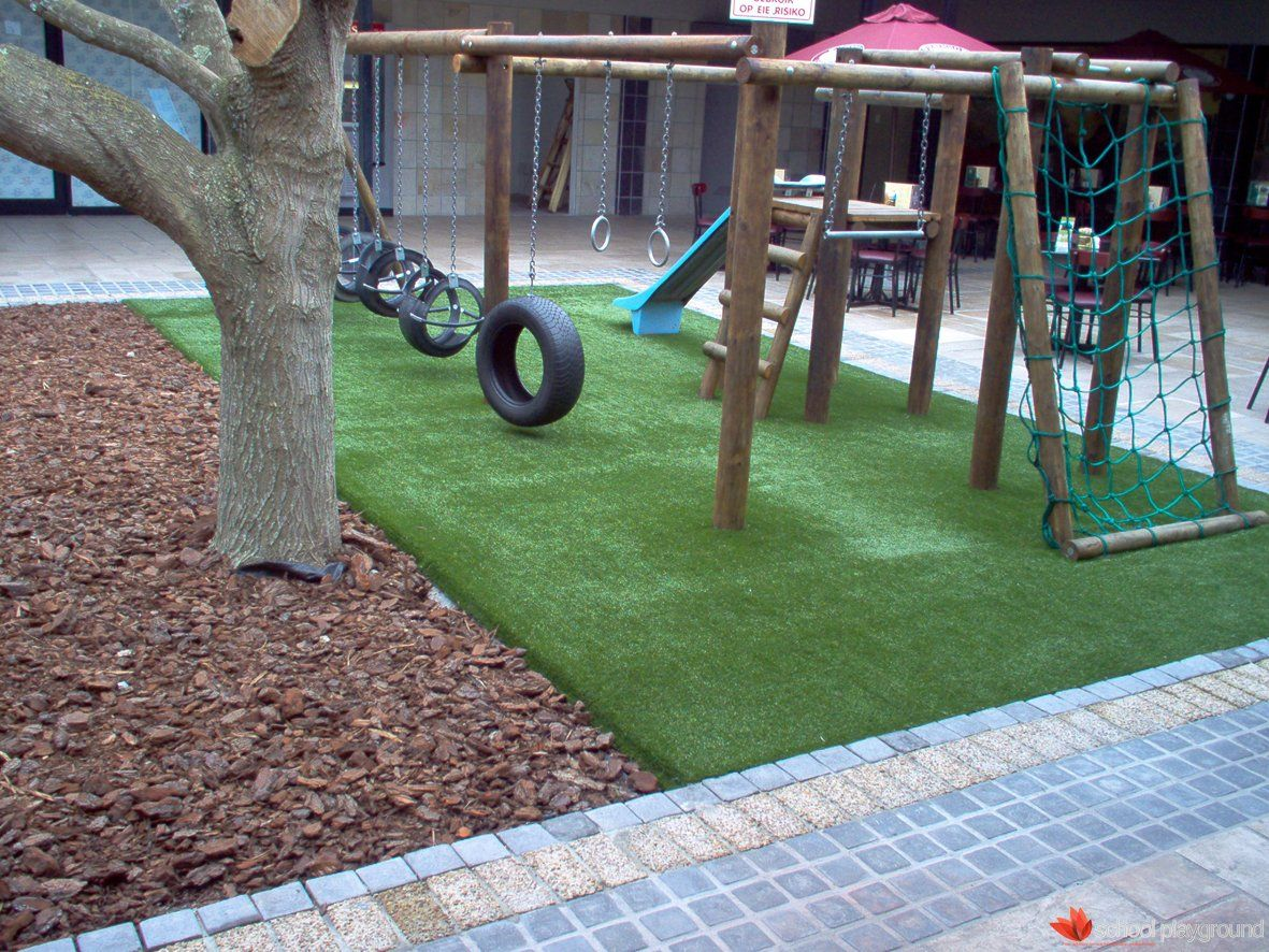 Four pages of design and construction plans for play for Diy backyard playground