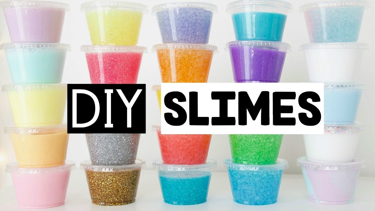 Making 25 Amazing Diy Slimes Four Easy Slime Recipes