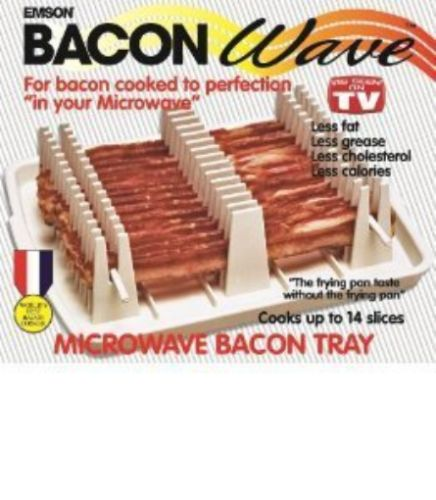 Microwave Cooking Gadgets 20633 Bacon Wave Tray Boxed Dishwasher Safe Cooks Evenly